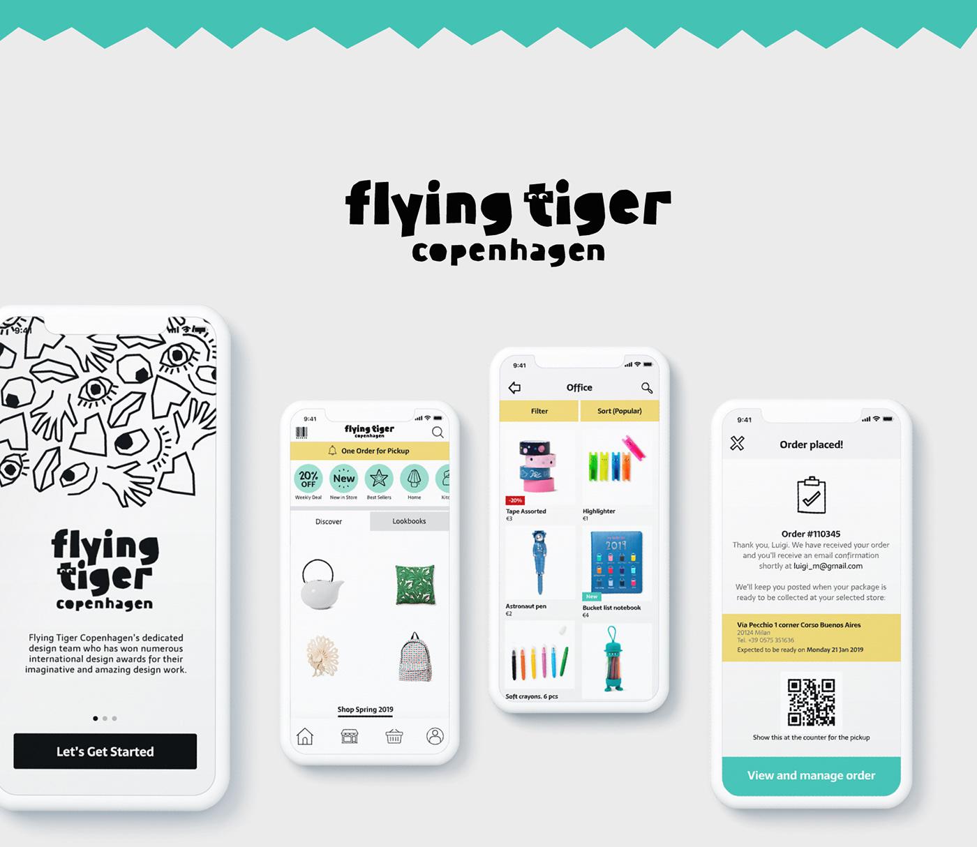flying tiger Ecommerce e-commerce app PICKUP storelocator e-commerce platform onlineshopping e-commerce Flying Tiger Copenhagen Grocery App