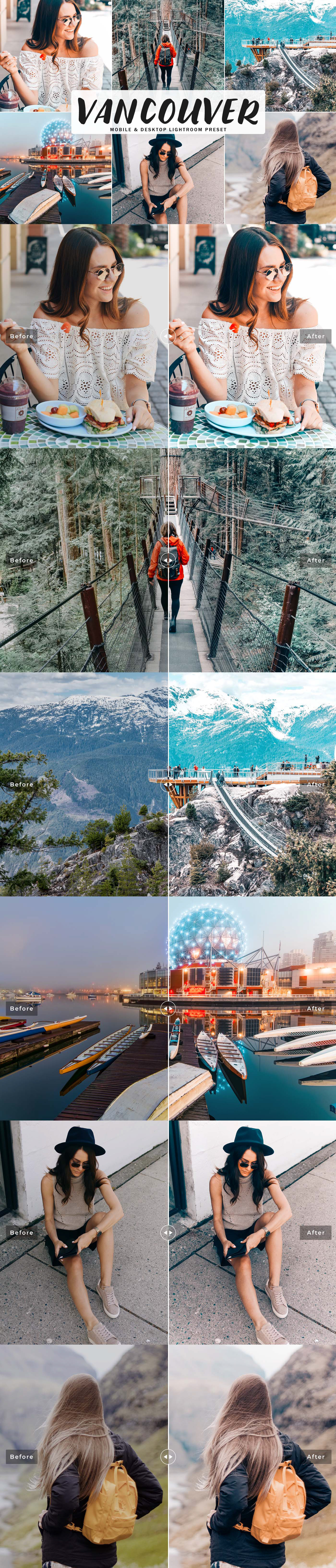 Free Vancouver Lightroom Preset will help you give your photos perfect mixture of warm and cool tone