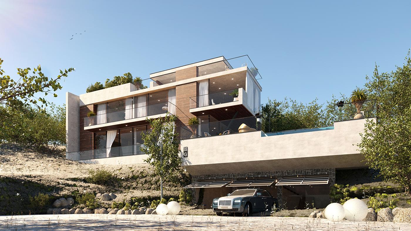 The second winning prize arcbazar com zurich modern house in design corporation with kareem el domiaty