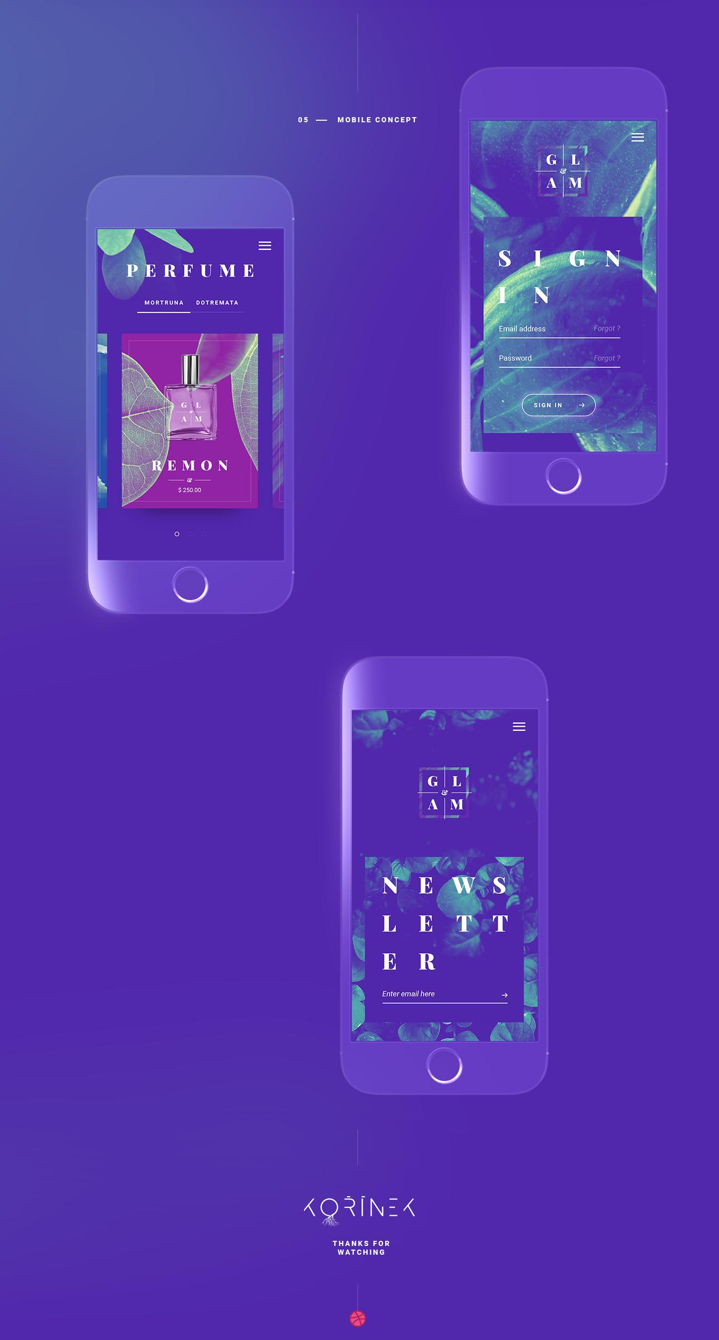 clean landing,minimal,One Page,Photography ,portfolio ui,ux,web perfume violet,mobile shop app
