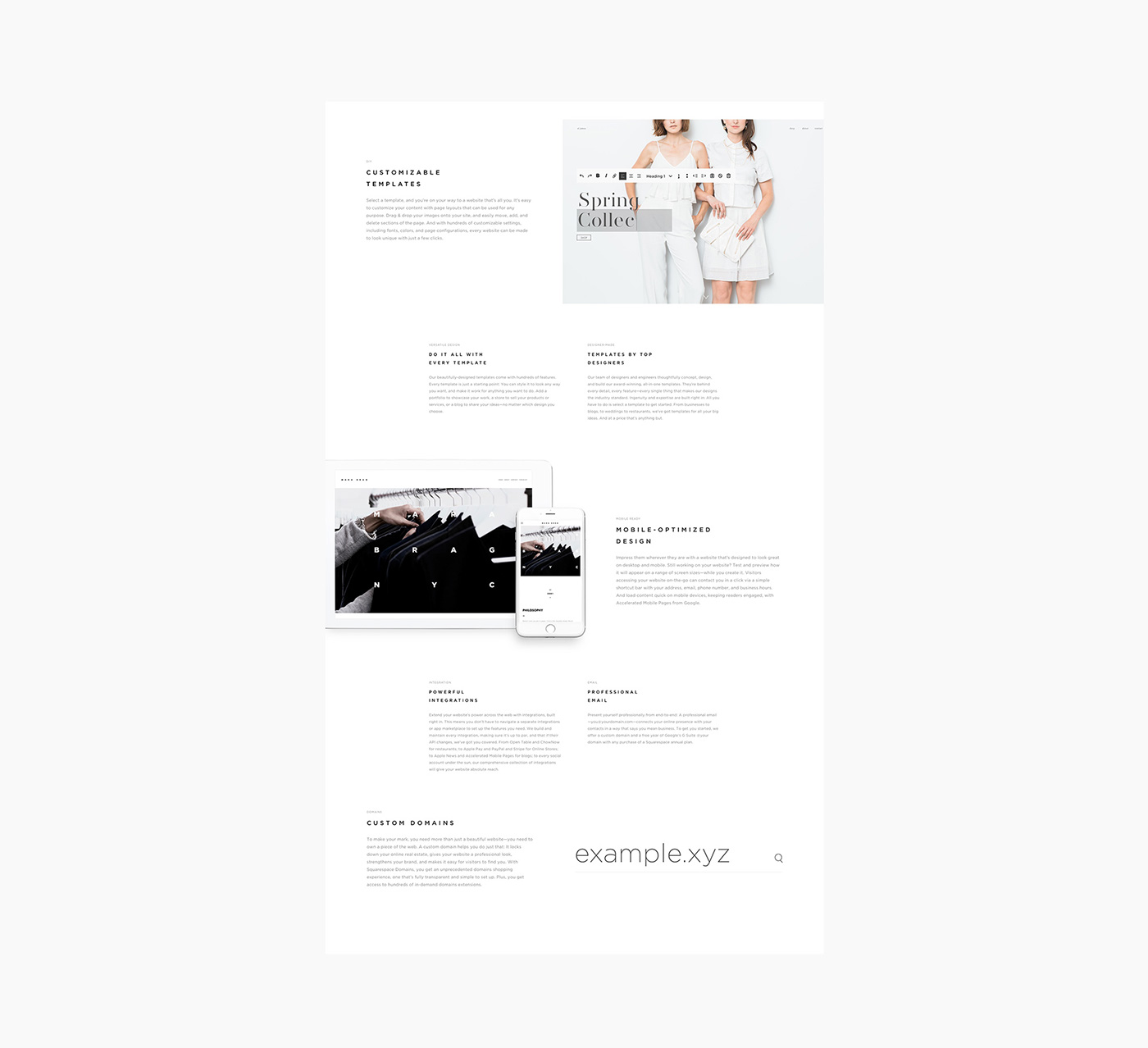 Web Design: Squarespace Re-design by  Peter Bagi