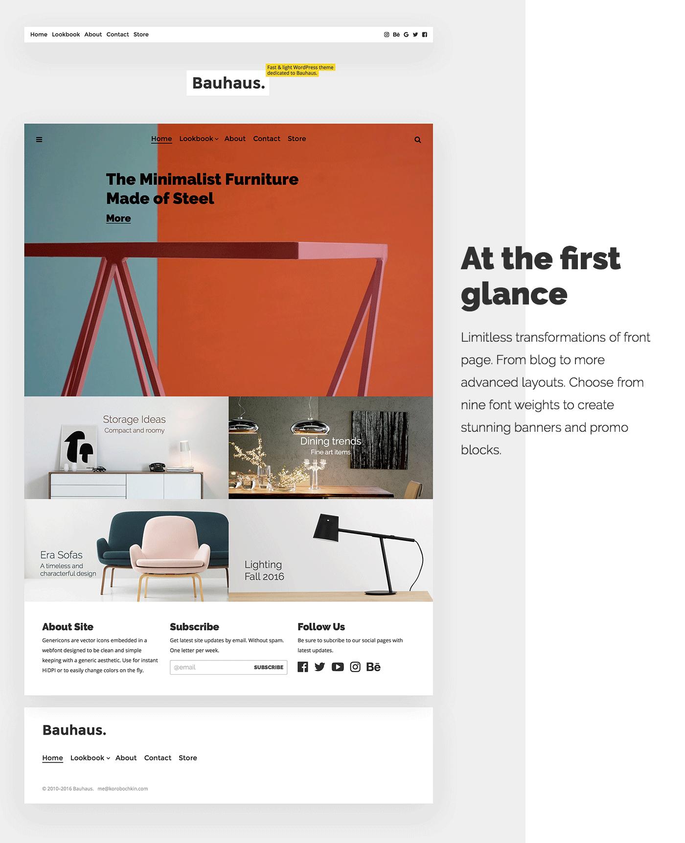 Bauhaus. WordPress theme