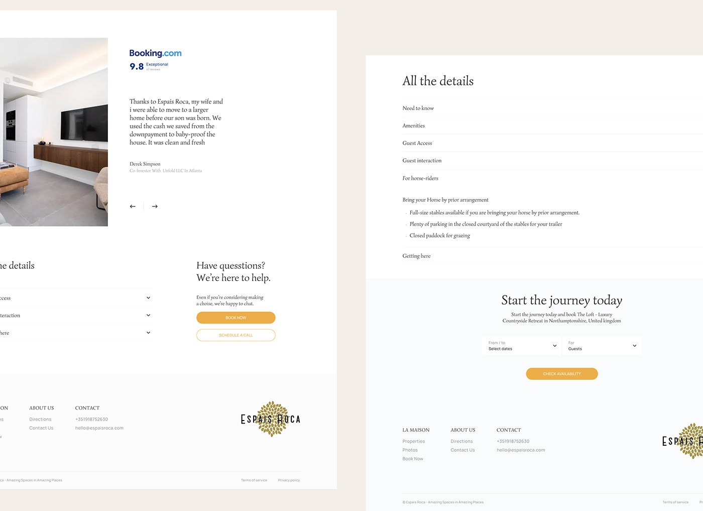 animation  interaction luxury property real estate UI ux web-design
