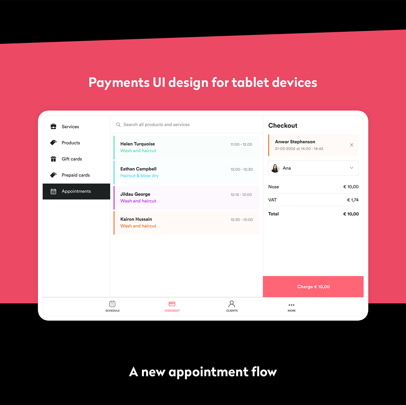 calendar mobile payment planning salon salonized scheduling