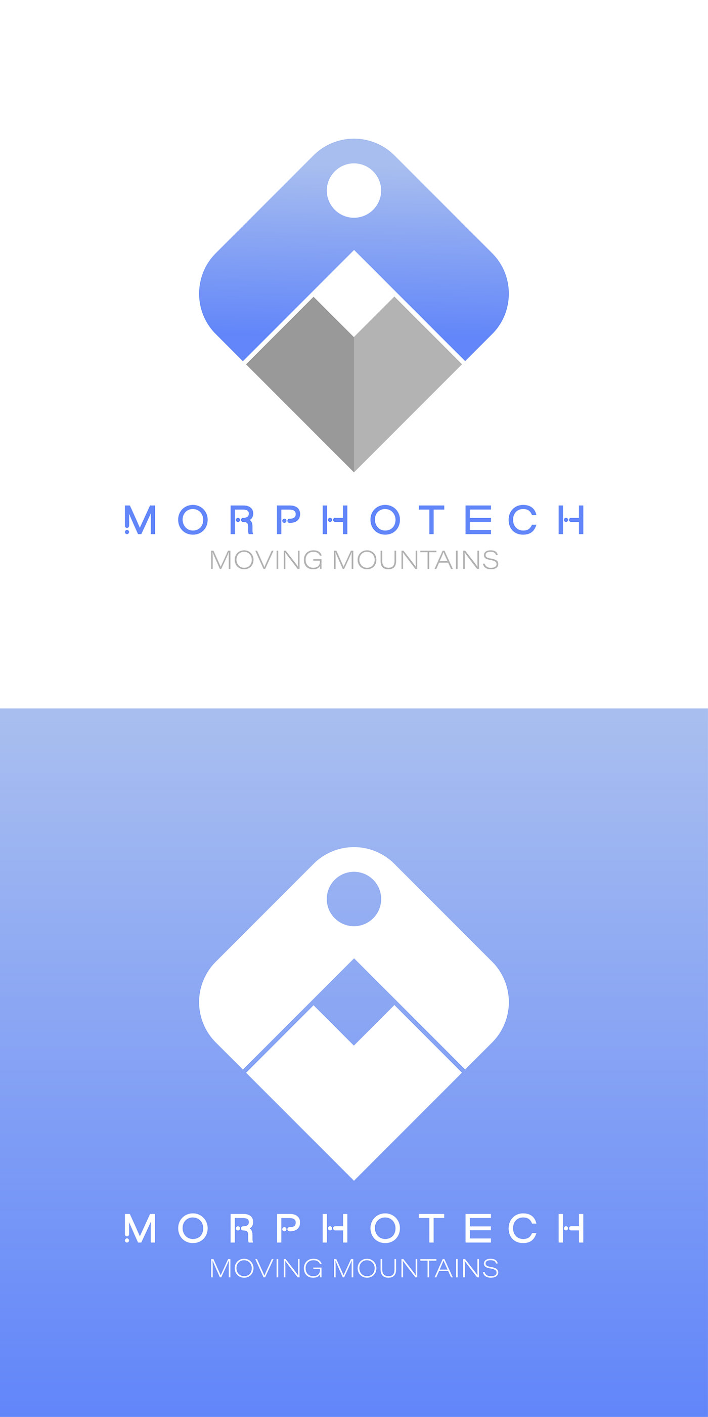 logo graphic design  branding  type futuristic bold mountain Sun
