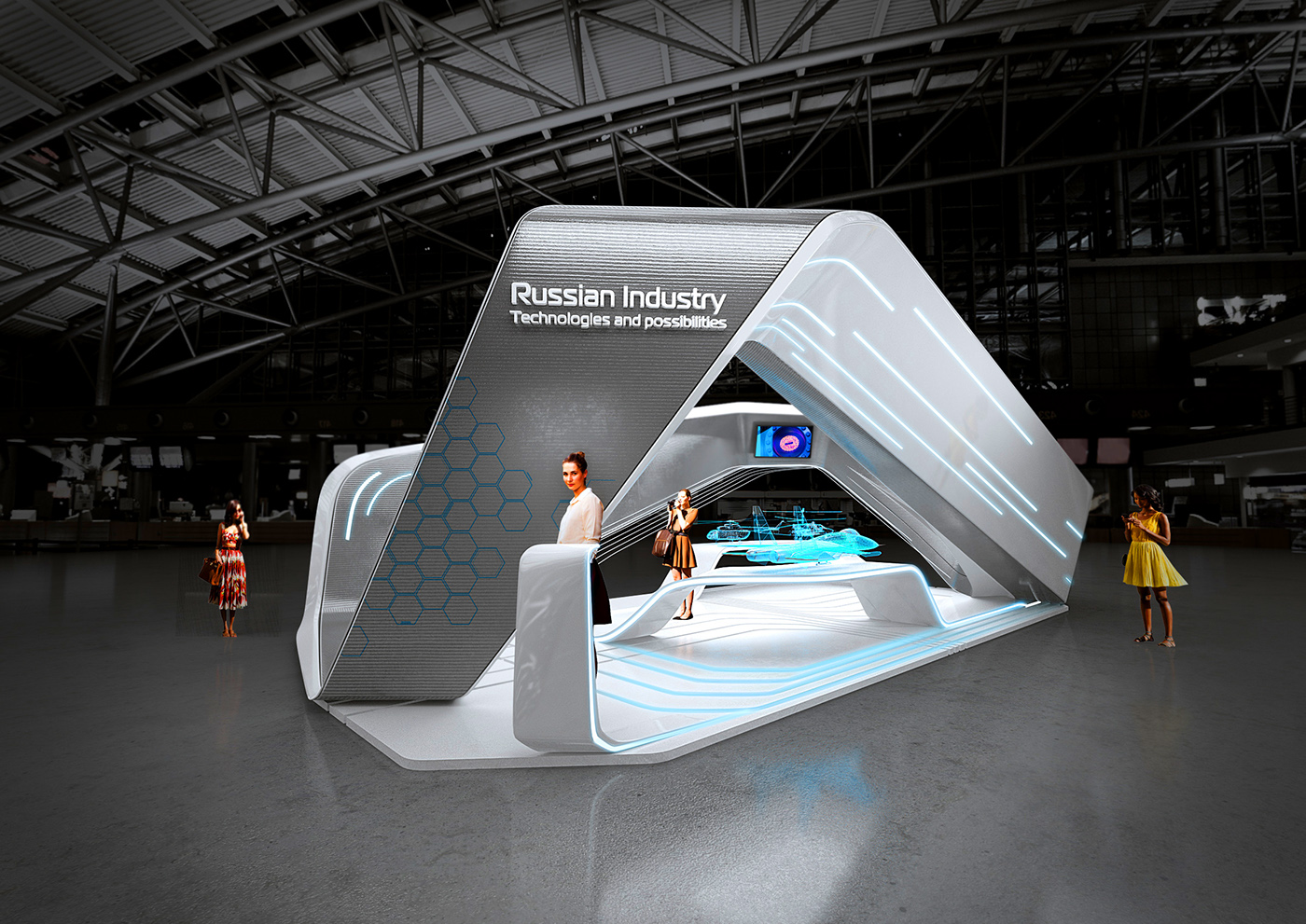Kubik Exhibition Stand View : Helix project on behance