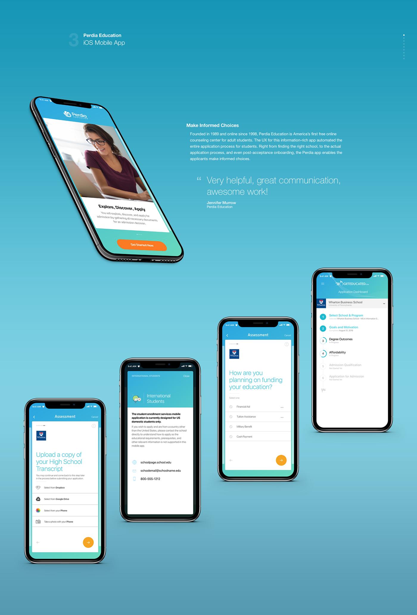 Education app ios mobile UI ux User Experience Design