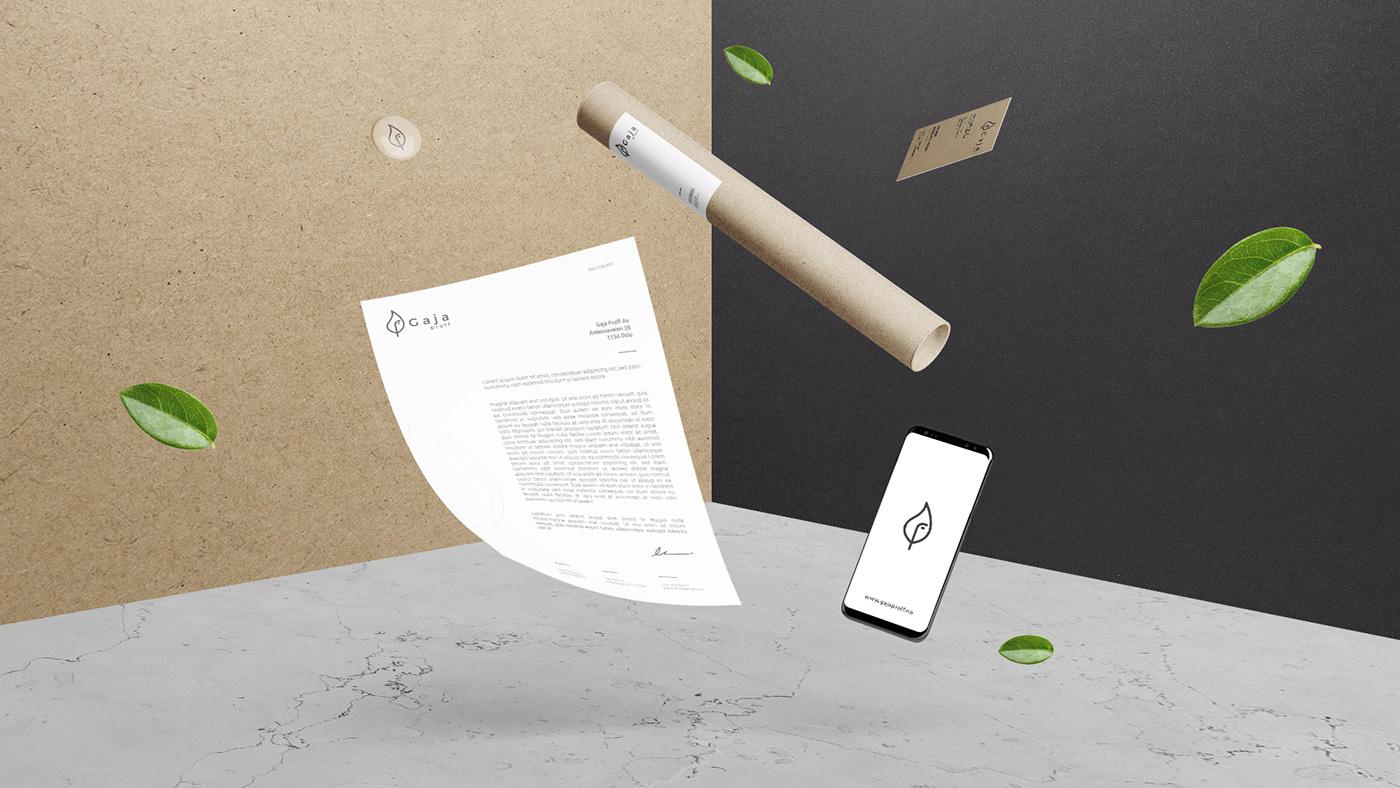 branding  eco Ecology clean minimalist minimal natural brand logo