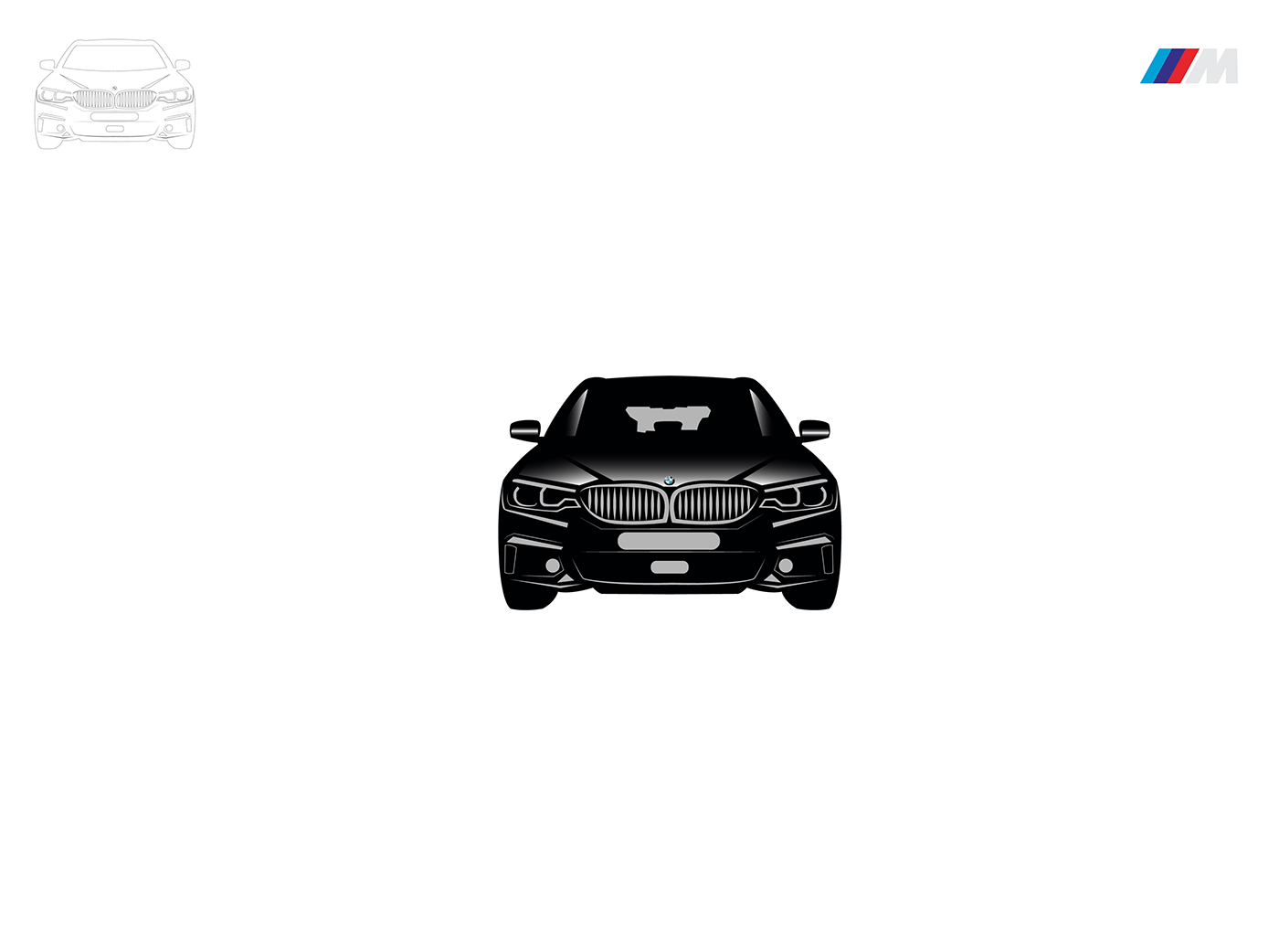 BMW M3 ILLUSTRATION  black design Auto automobile Drawing  car front