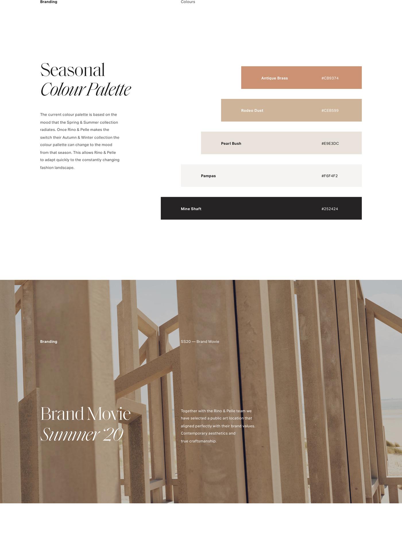 colour palette for a women's fashion website
