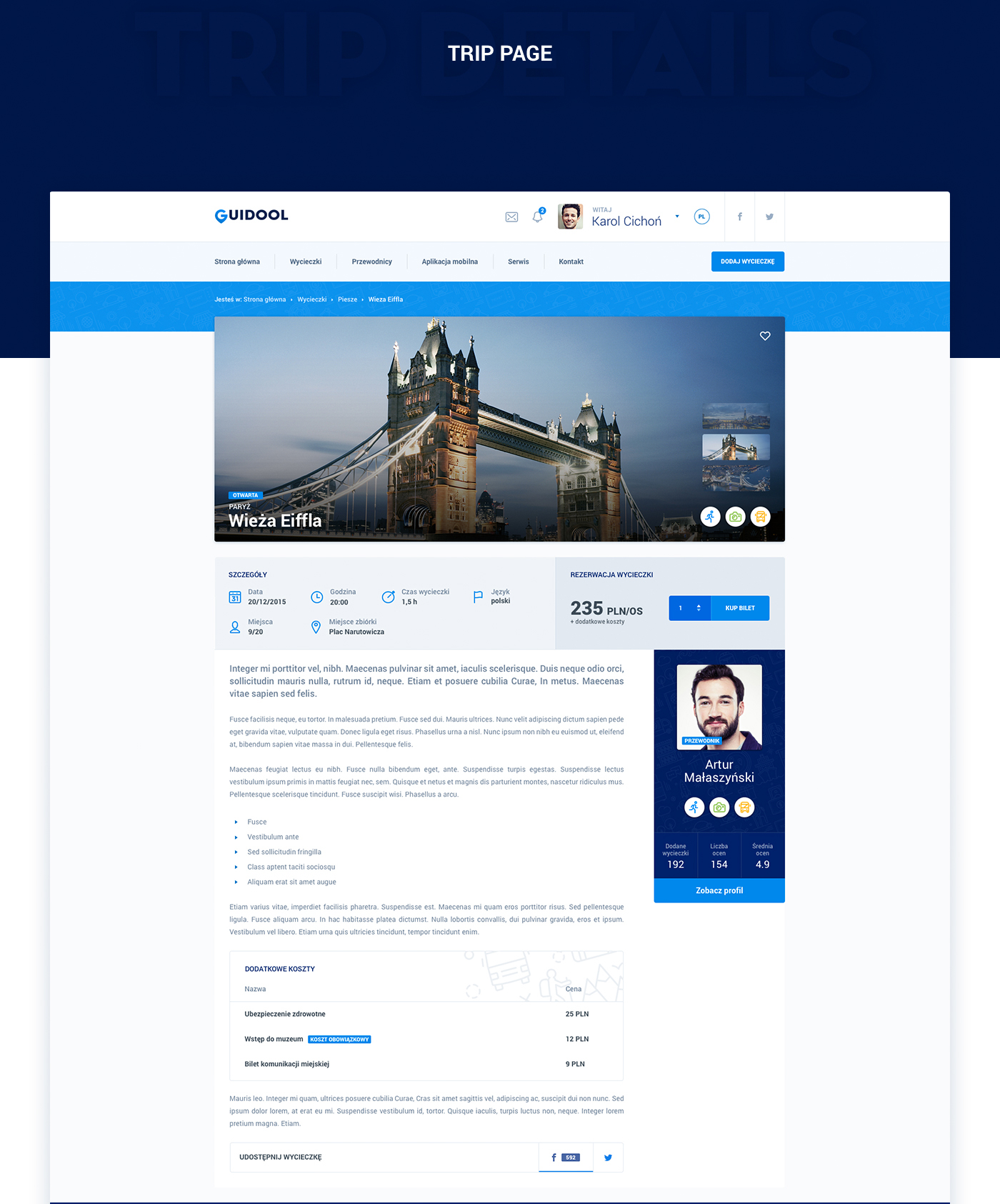 Webdesign tourist Guide Travel journey holidays search trips Platform wireframes