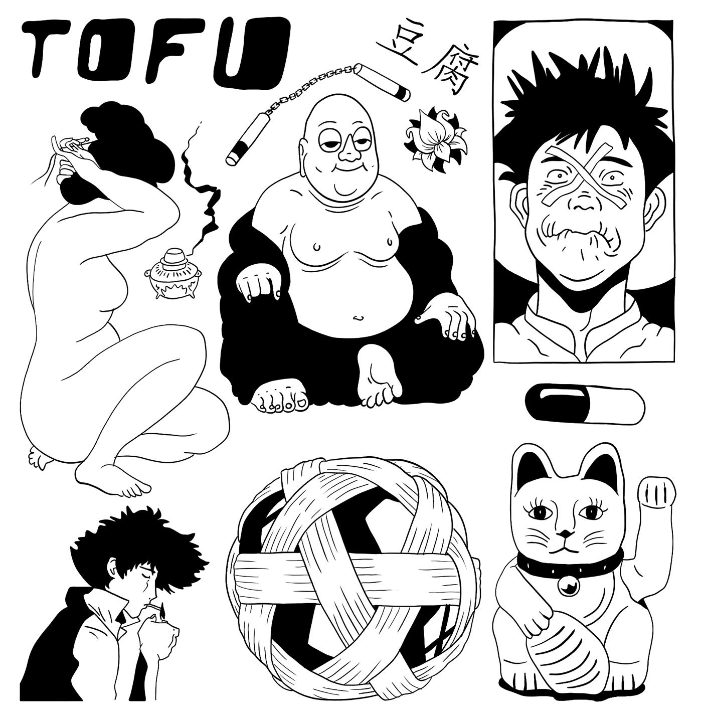 tattoo Flash Drawing  manga ILLUSTRATION