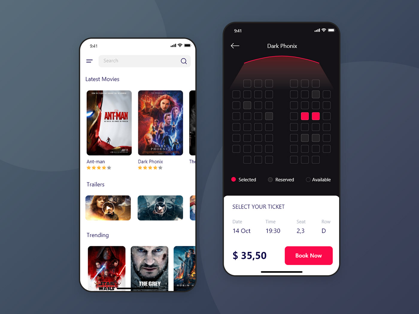 Develop A Movie Ticket Booking App Like Bookmyshow On Behance