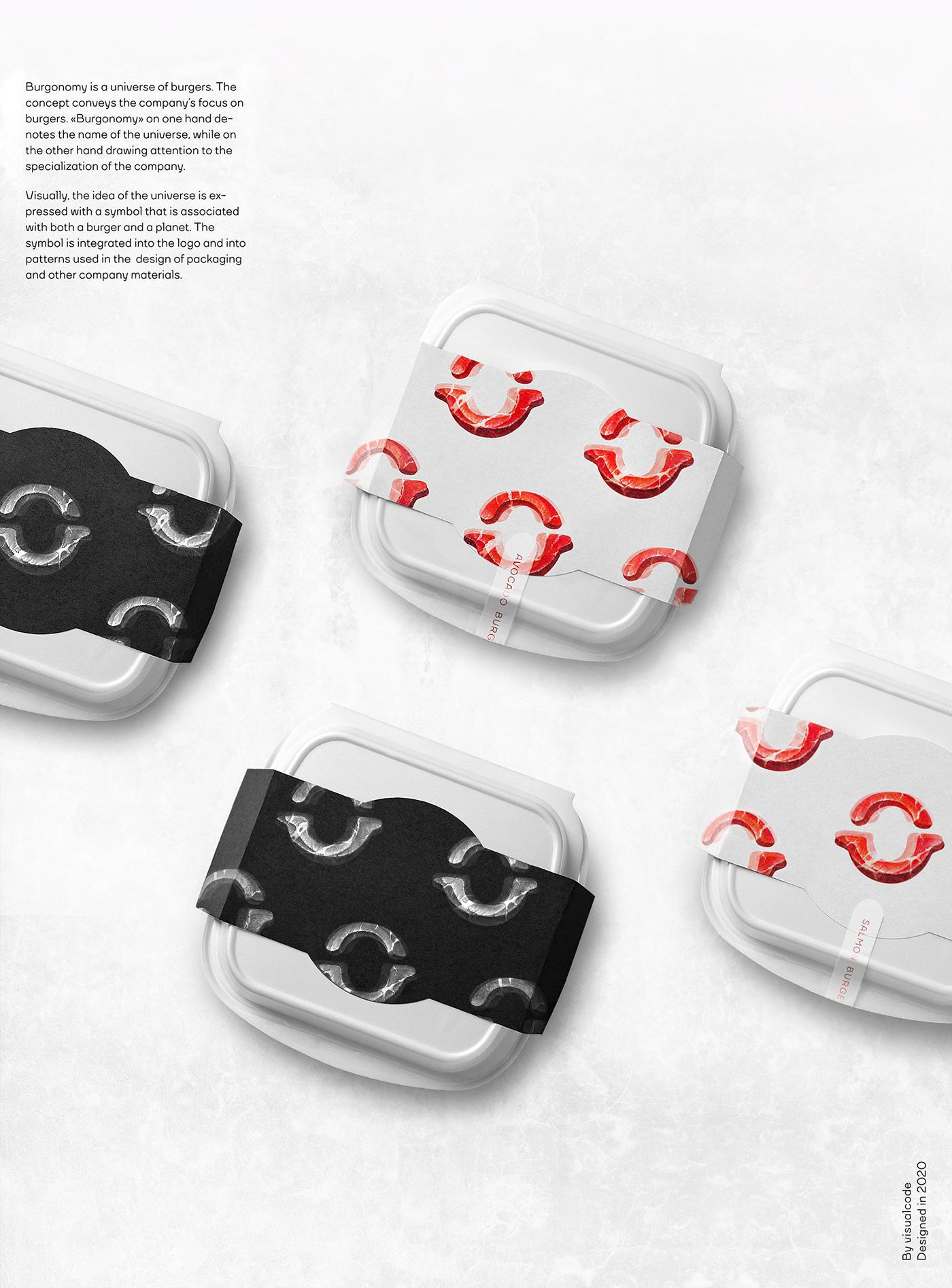 branding  brand identity burger Food  Logotype meat Packaging Space  symbol Visualcode