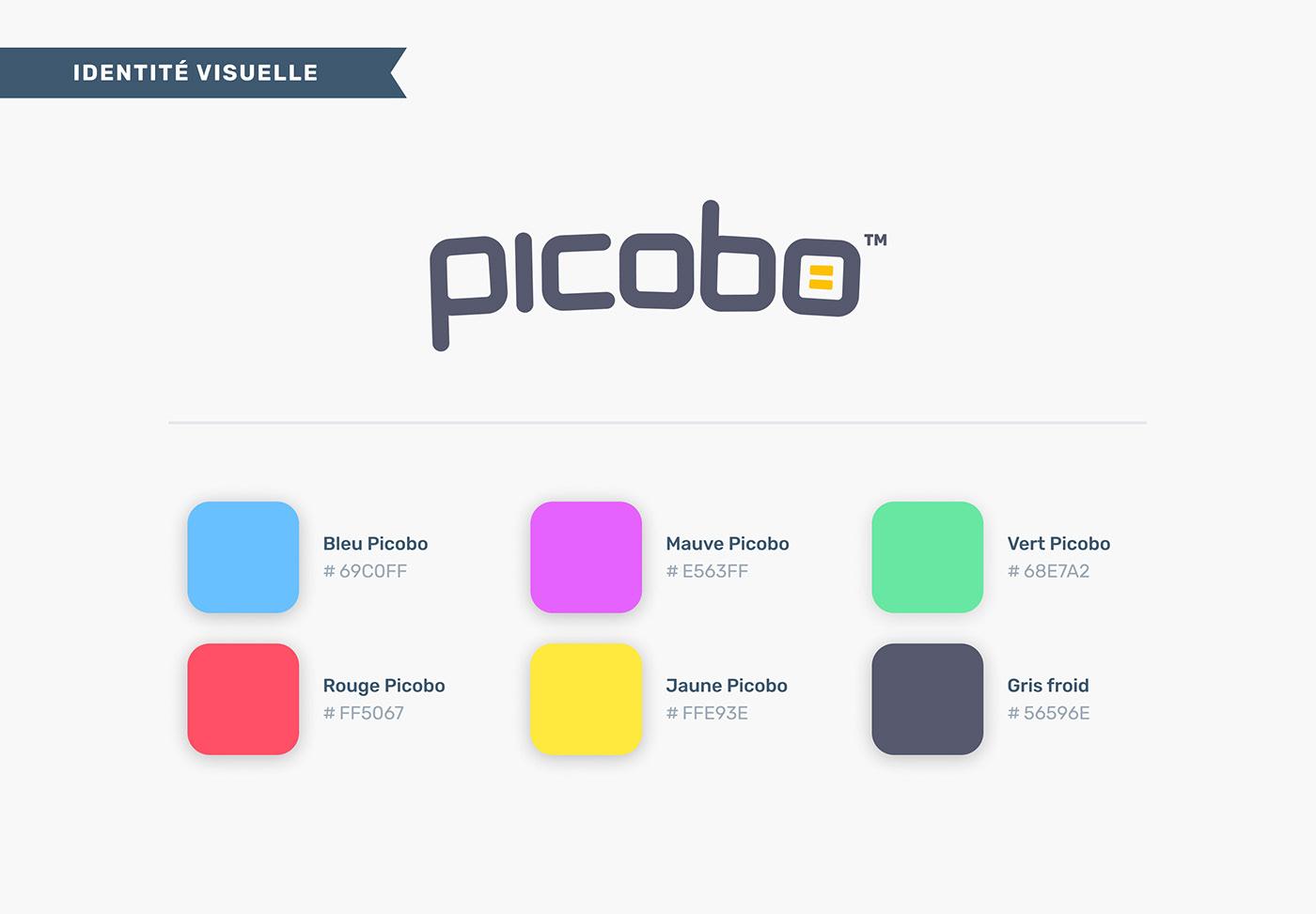 Charte graphique du jeu de société Picobo