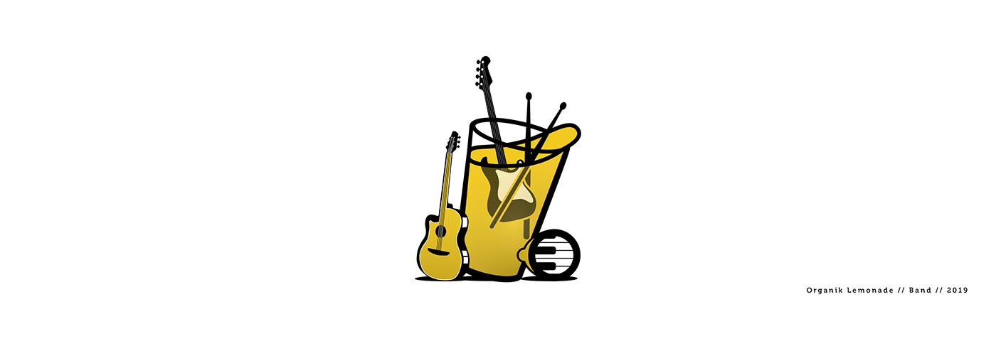 organic lemonade logo design