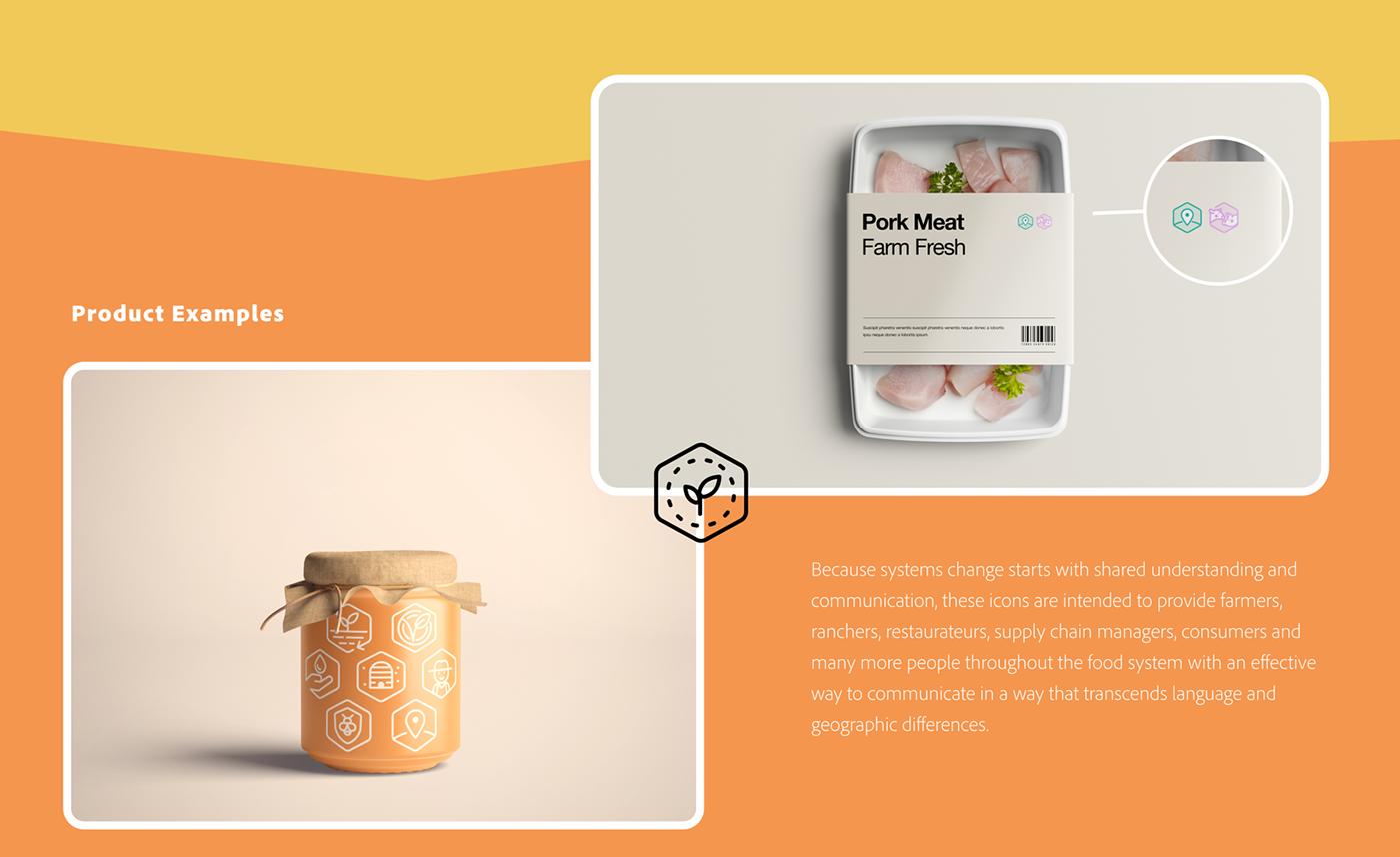 food system foodicons icon design  iconography language Icon iconographic language open-source UN Food Systems Summit volunteer work