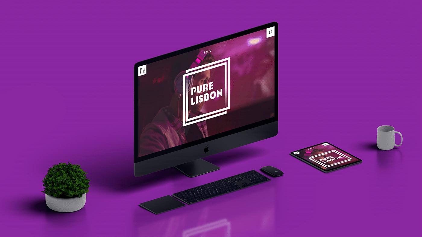 purelisbon Webdesign componto brand concept website