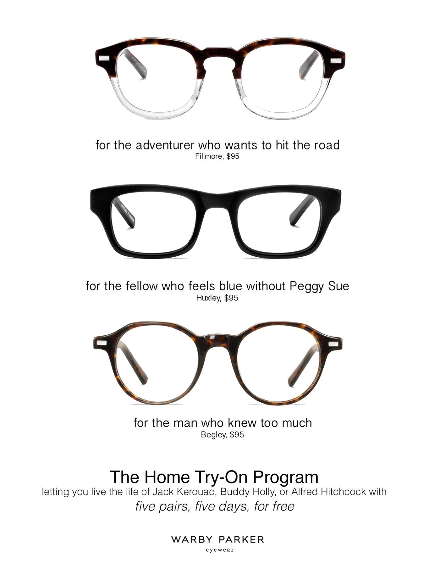 9dbbdd84b2b Warby Parker  Home Try-On Program on Behance