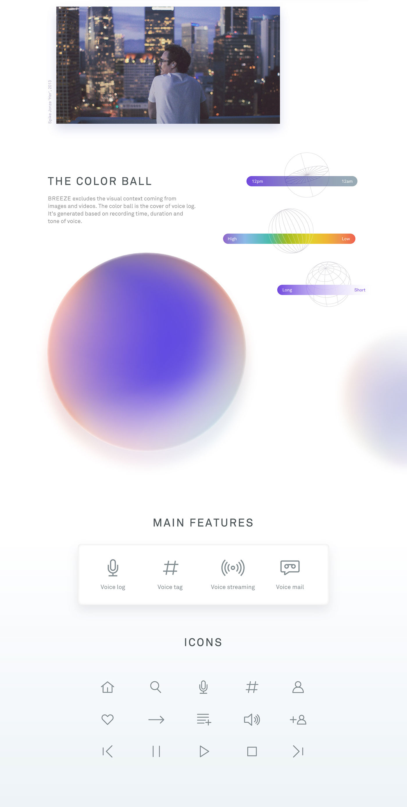 UI ux SNS feed Streaming music podcast gradient adobeawards