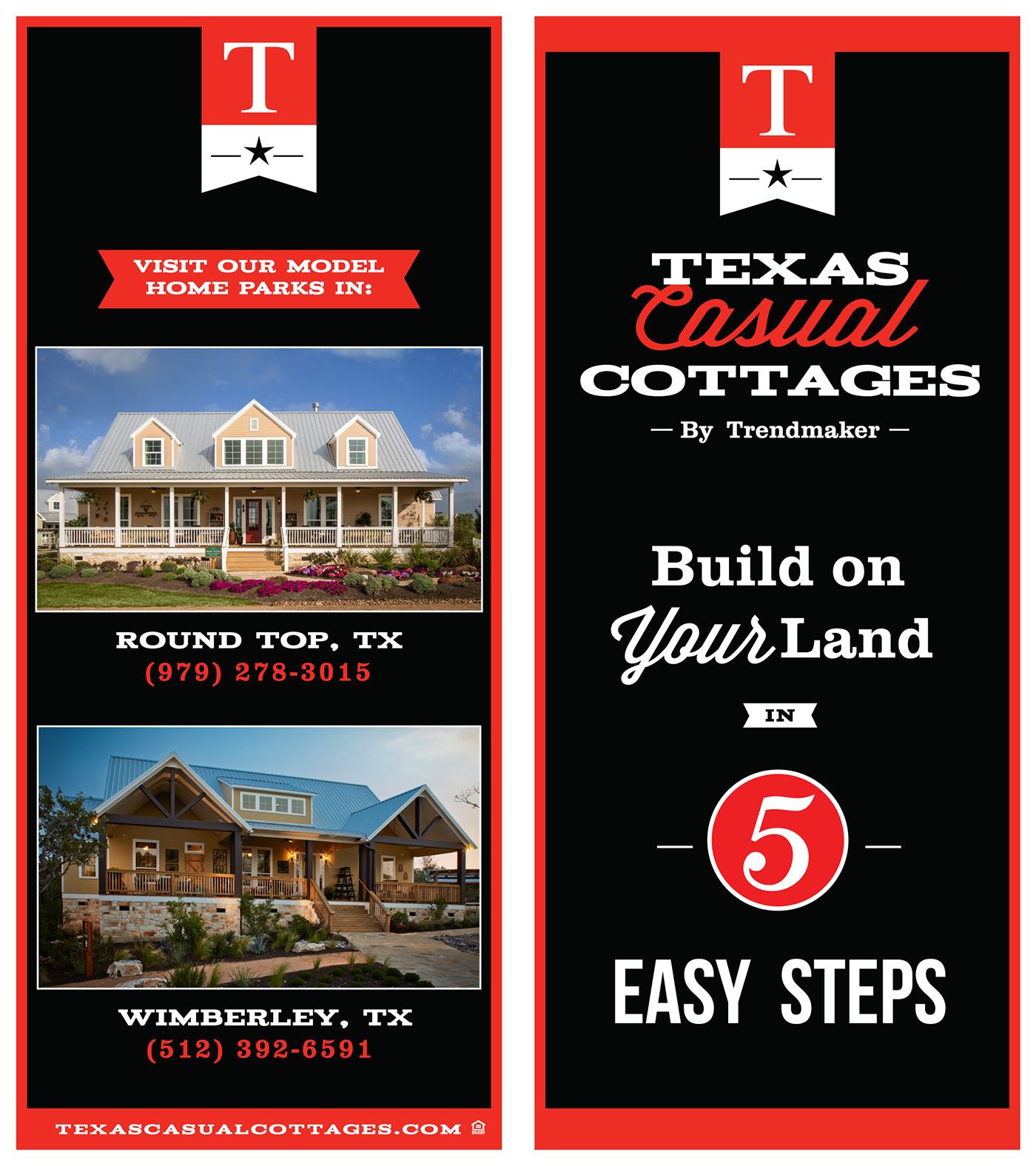 Texas Casual Cottages by Trendmaker - Branding on Behance