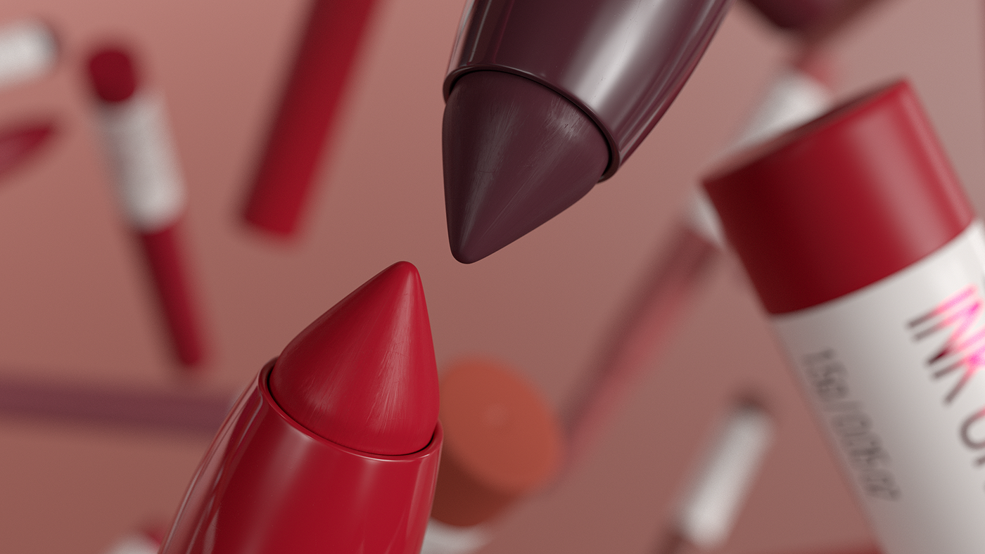 3D art direction  beauty cosmetics makeup Maybelline motiongraphics nyc simulation