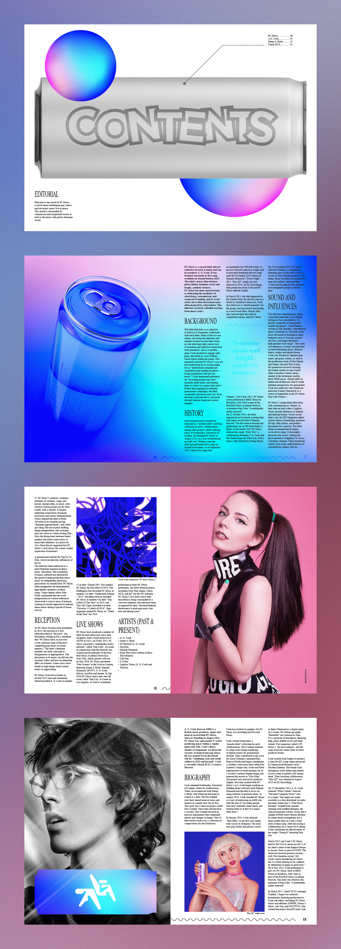 3D Render magazine pc music edition music typography   neon colors