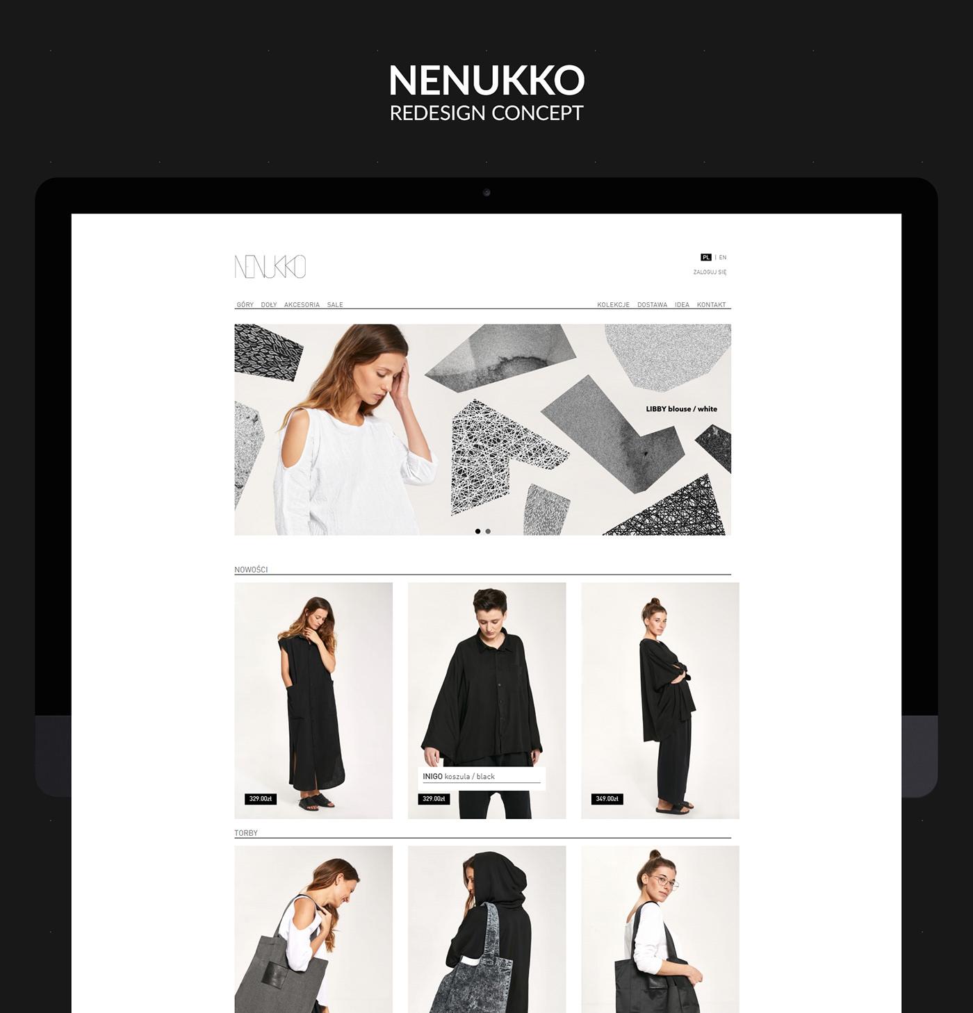 nenukko redesign Webdesign Web design animation  UI concept