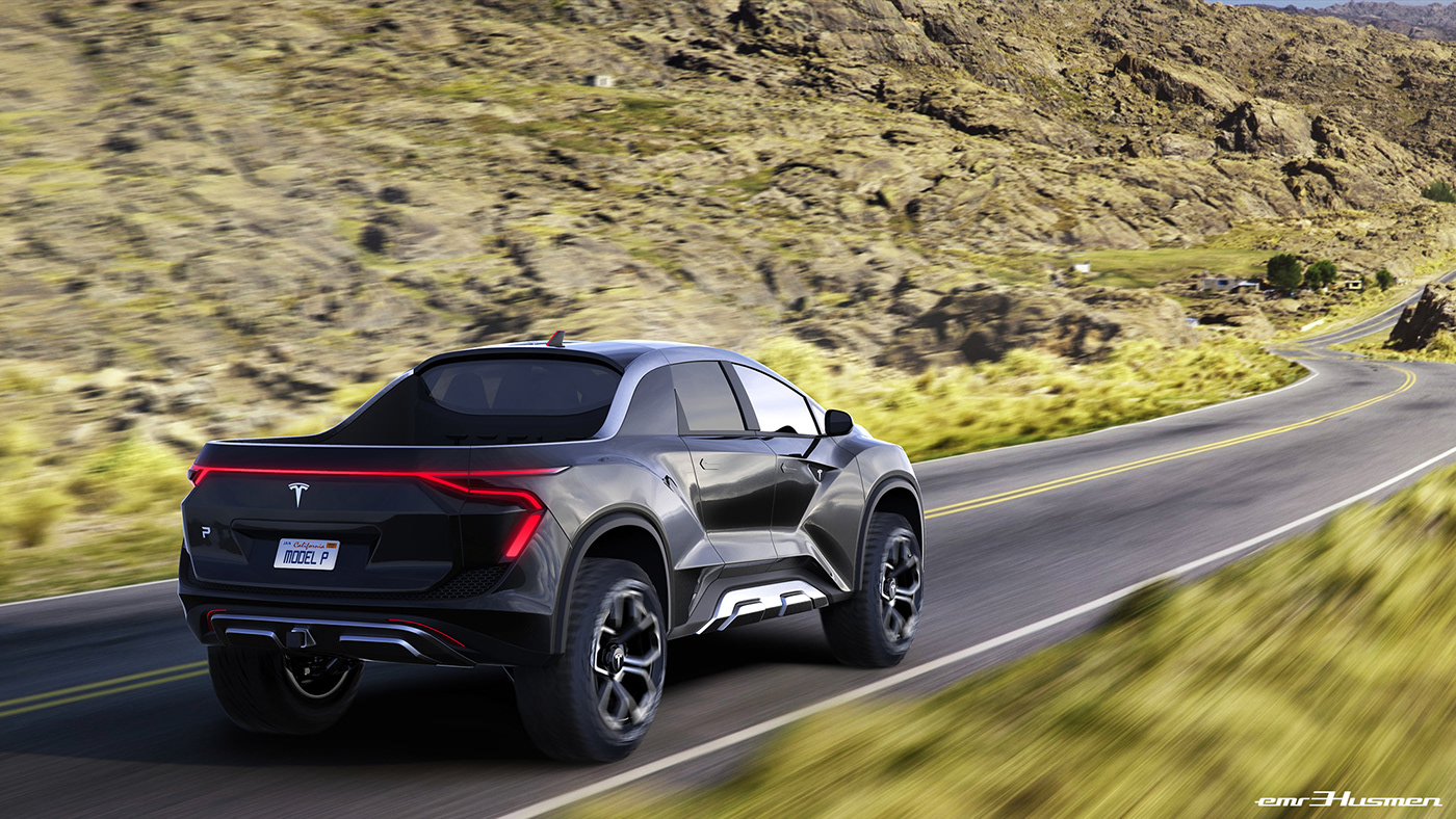 Automotive Design: Tesla Pickup Concept
