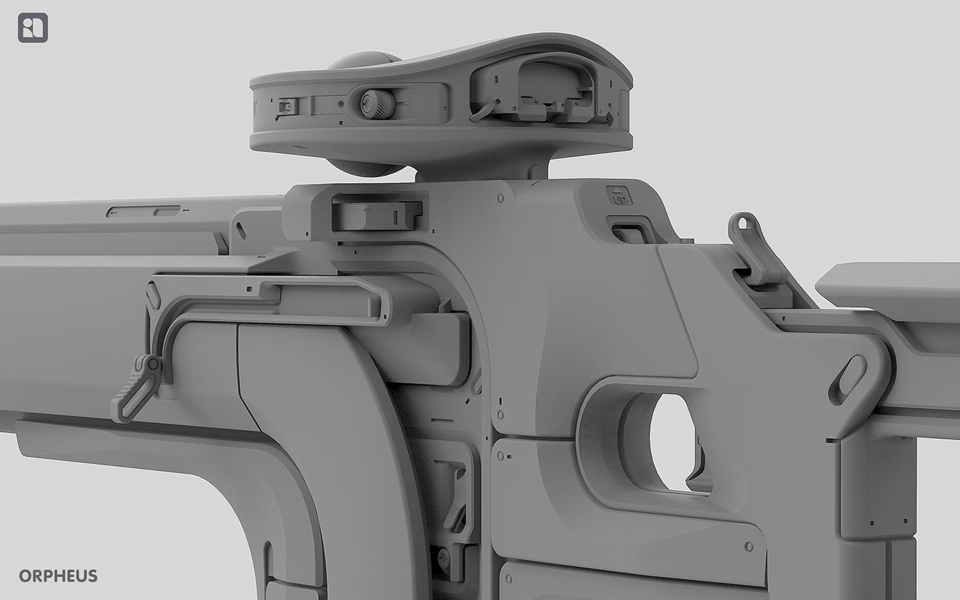 3D art Fusion360 keyshot rifle scope Sniper Weapon