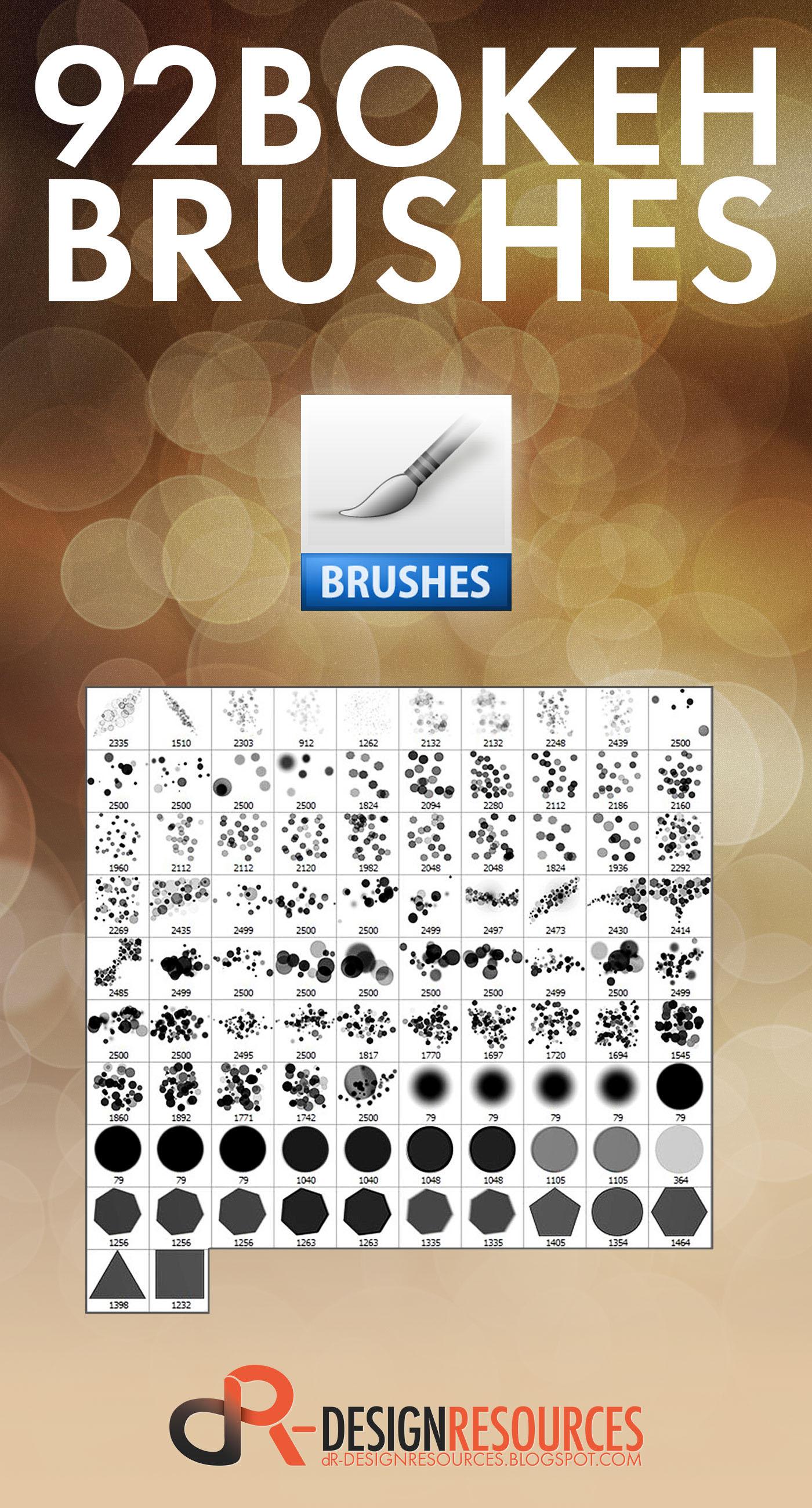free brushes bokeh brushes circle burning lights psd tutorial