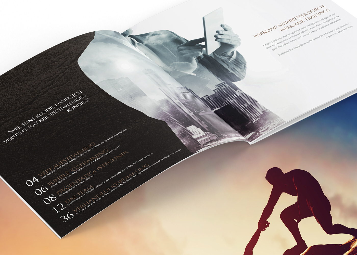 Recruiting brochure Creative Direction  Advertising  marketing