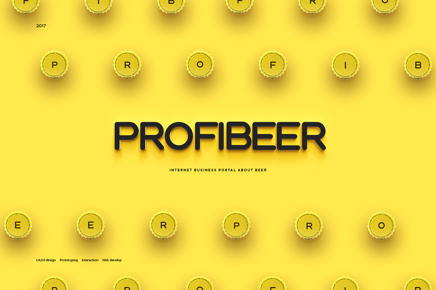 Web Website Adaptive UI ux beer news portal yellow Webdesign