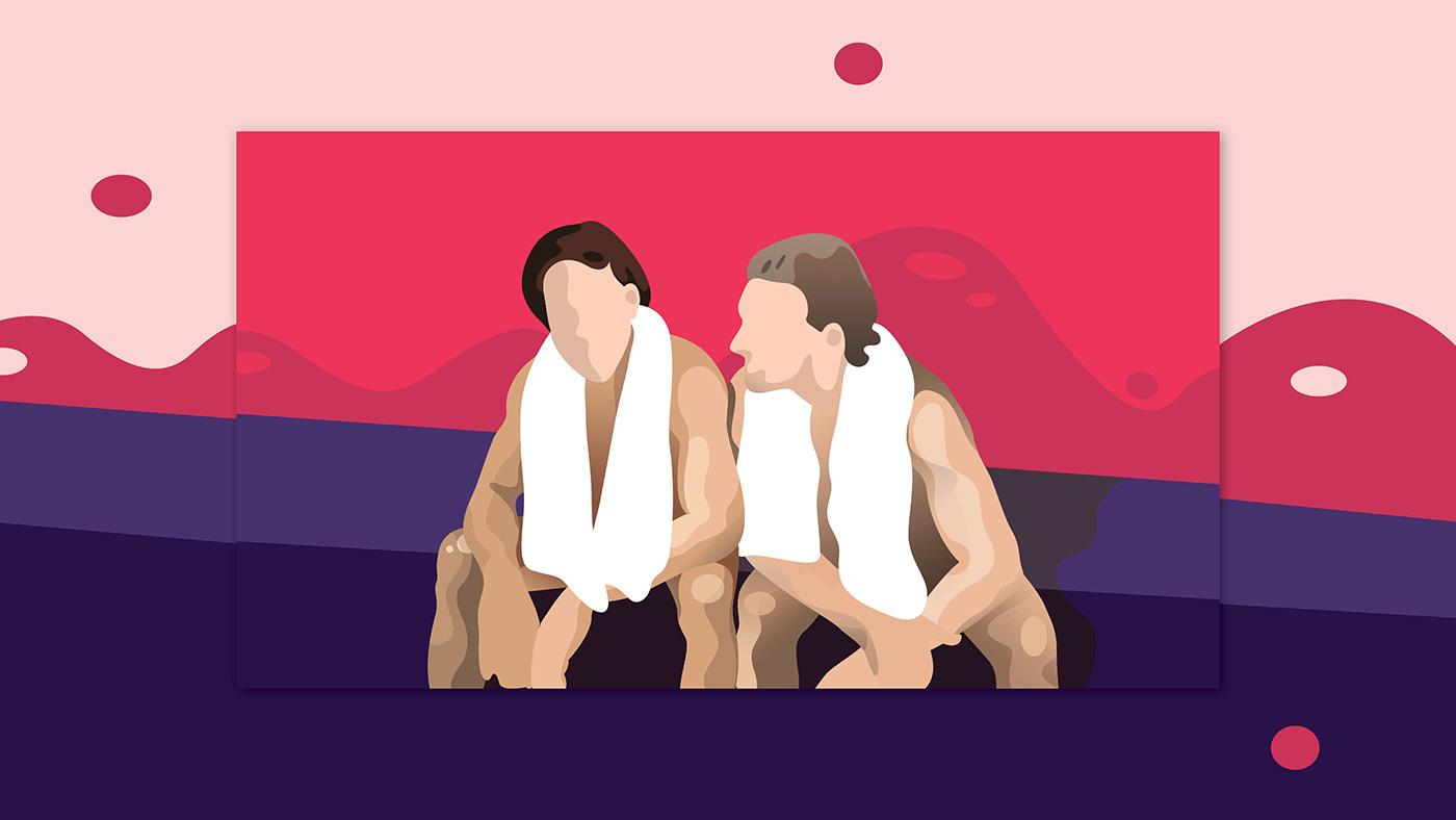 ILLUSTRATION  Fun digital illustration vector art Drawing  Advertising  animation  color scheme print design  wip