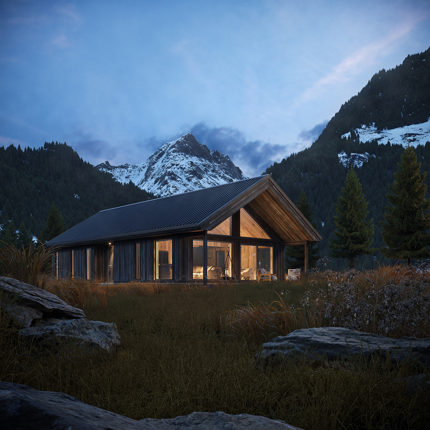 architecture cabin house lodge norway retreat wilderness wooden