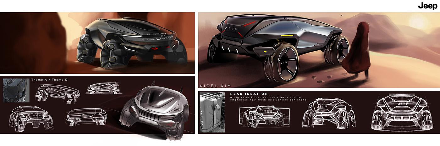 fca jeep Offroad suv concept Transportation Design CCS