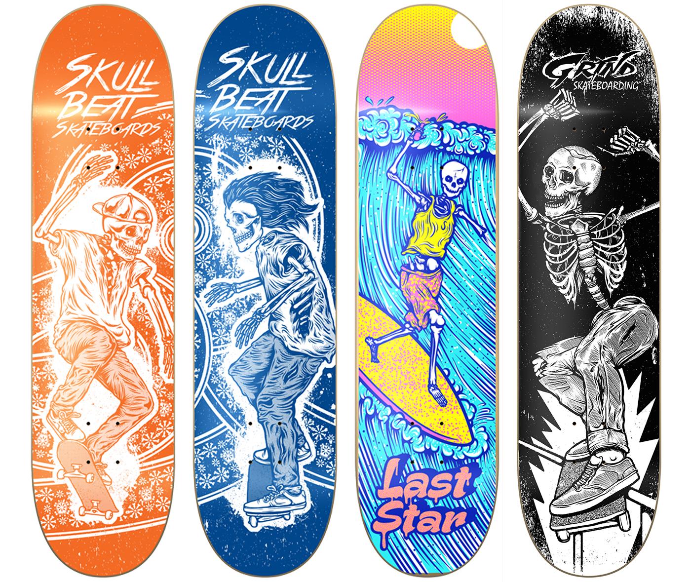 a4afb42dbb87 skulls skates, surf, rock and roll on Behance