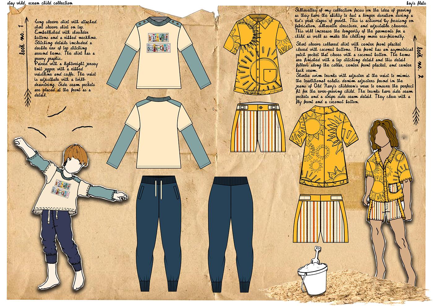 JEFFERSONXOLDNAVY2019 fashion design old navy Collaboration print design  graphic design  childrens wear concept development trend research ILLUSTRATION