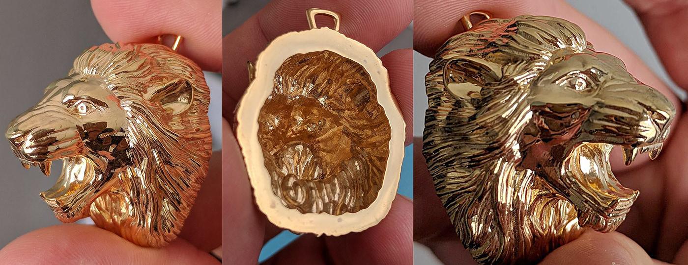 3d print lion pendant Sculpt Zbrush