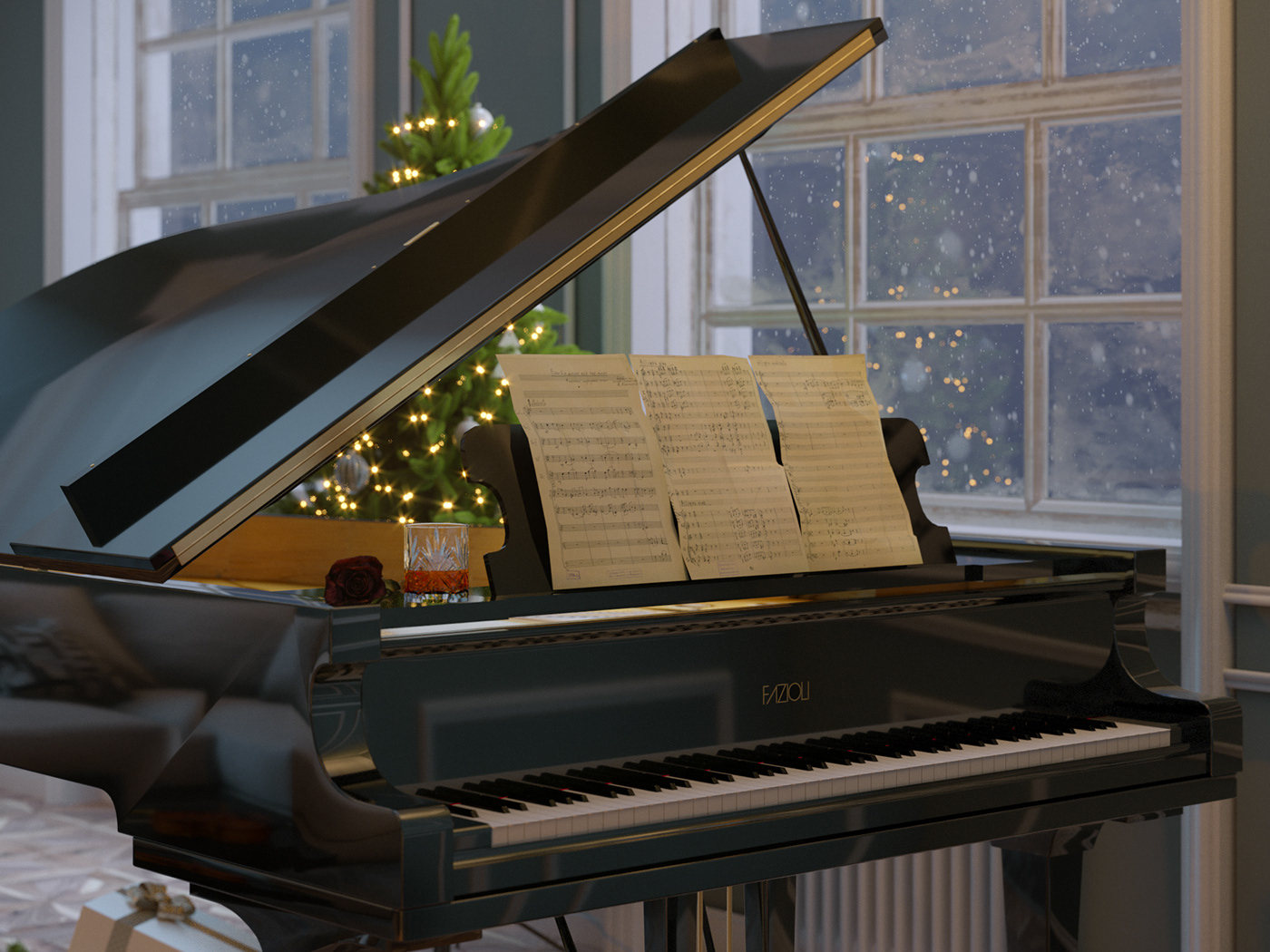 Image may contain: music, piano and musical keyboard