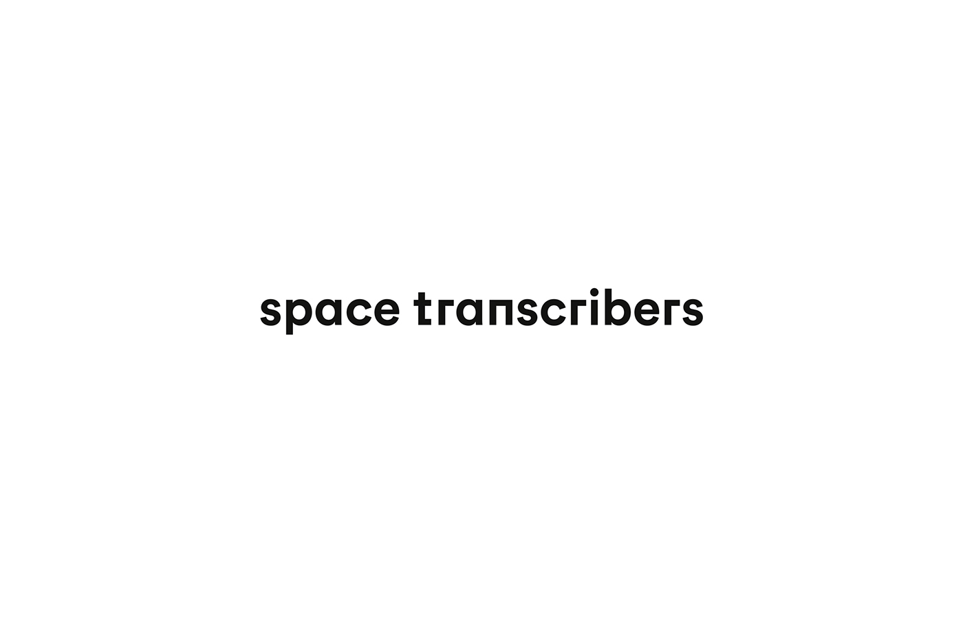 another collective Space Transcribers branding  architecture graphic design  Logotype stationary