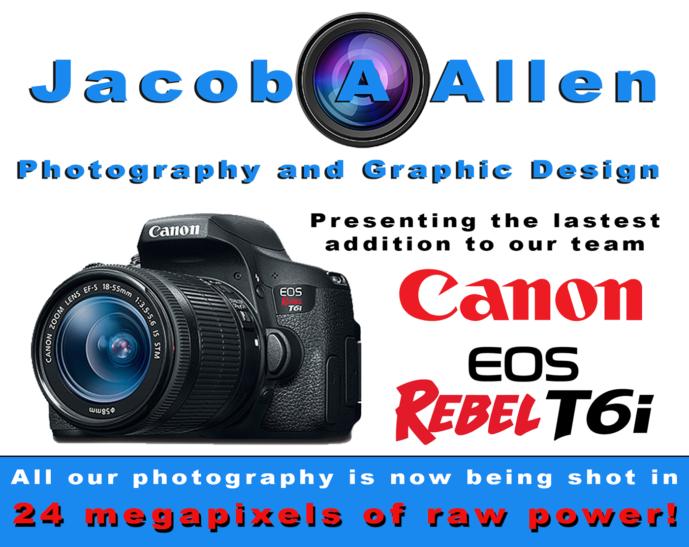 Promotion of My New Canon Rebel T6i, 2016 on Behance