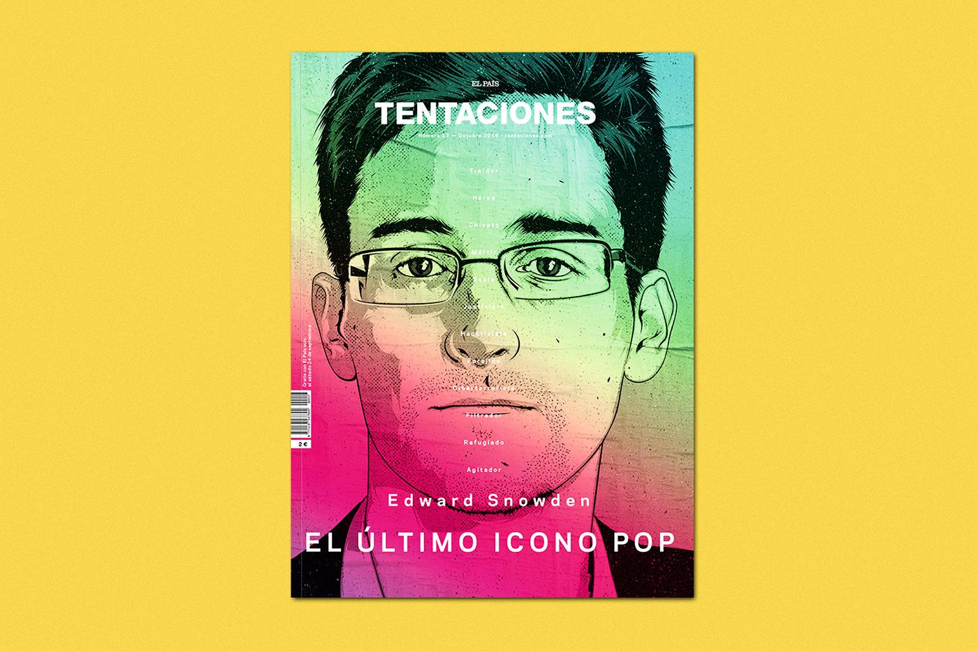magazine,tentaciones,editorial,design,art direction ,pop culture,snowden