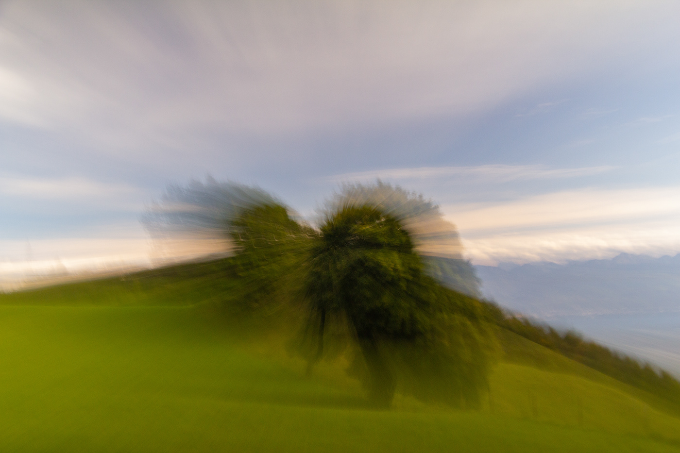 ICM photography in the fields, Switzerland (1st try)