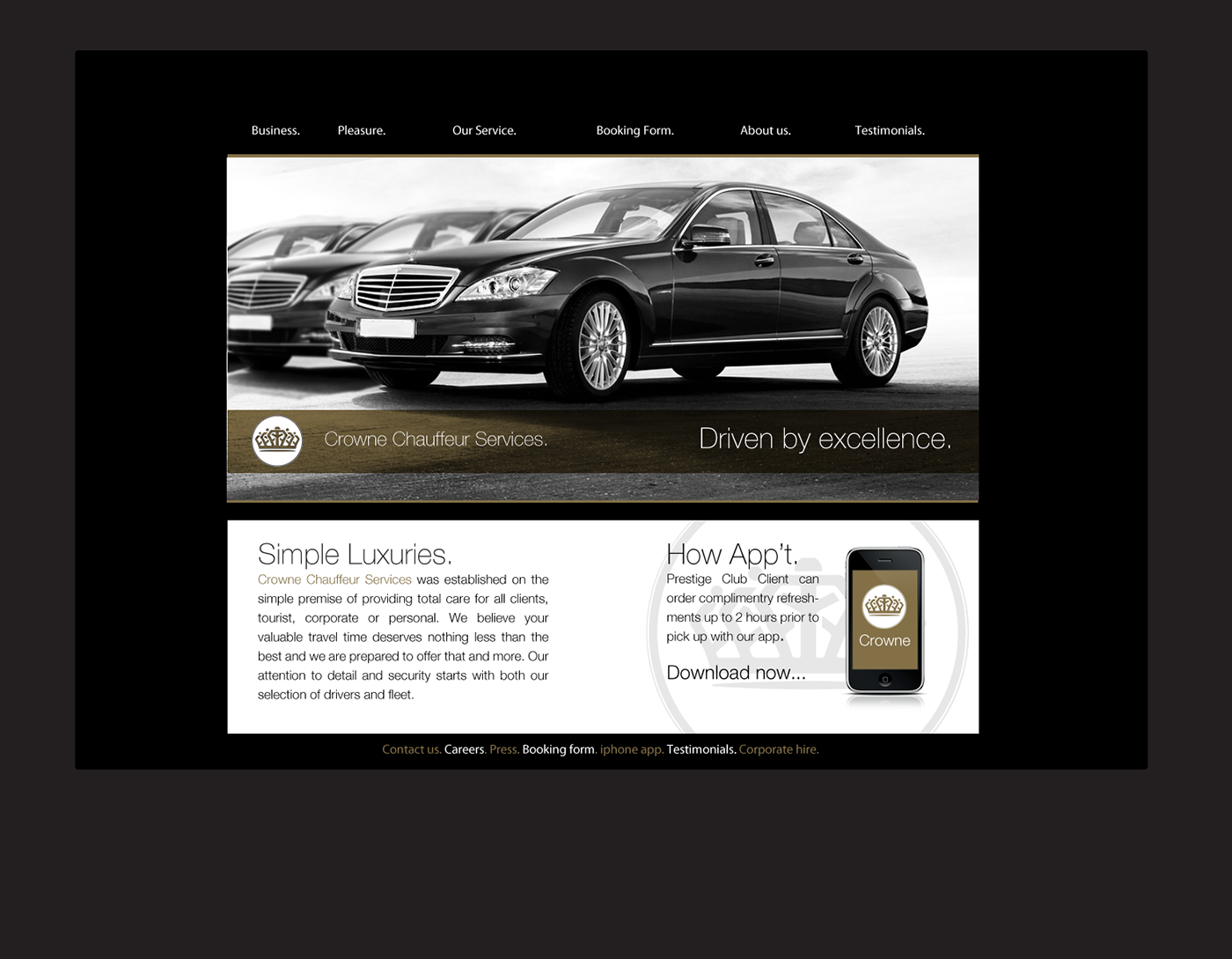 Crowne Chauffeur Services on Behance