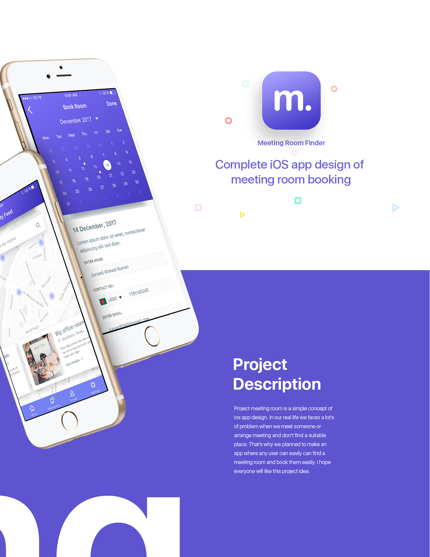 Meeting Room Booking - iOS App Design Concept on Behance