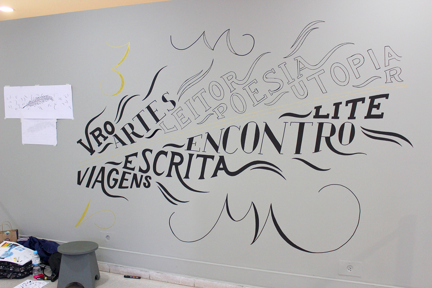 lettering Chalkboard Calligraphy   type letters typography
