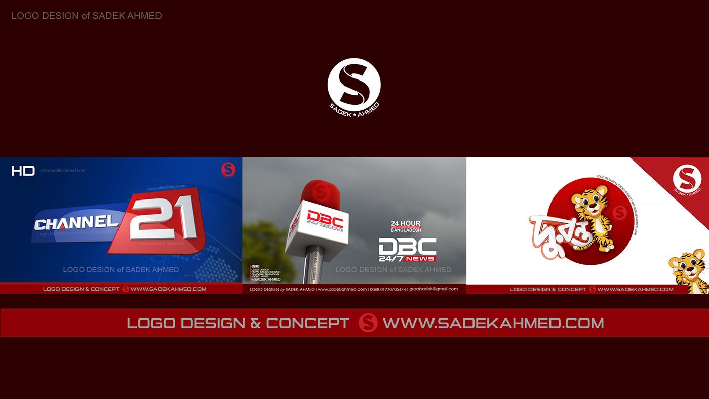 TV CHANNEL LOGO DESIGN of SADEK AHMED on Behance