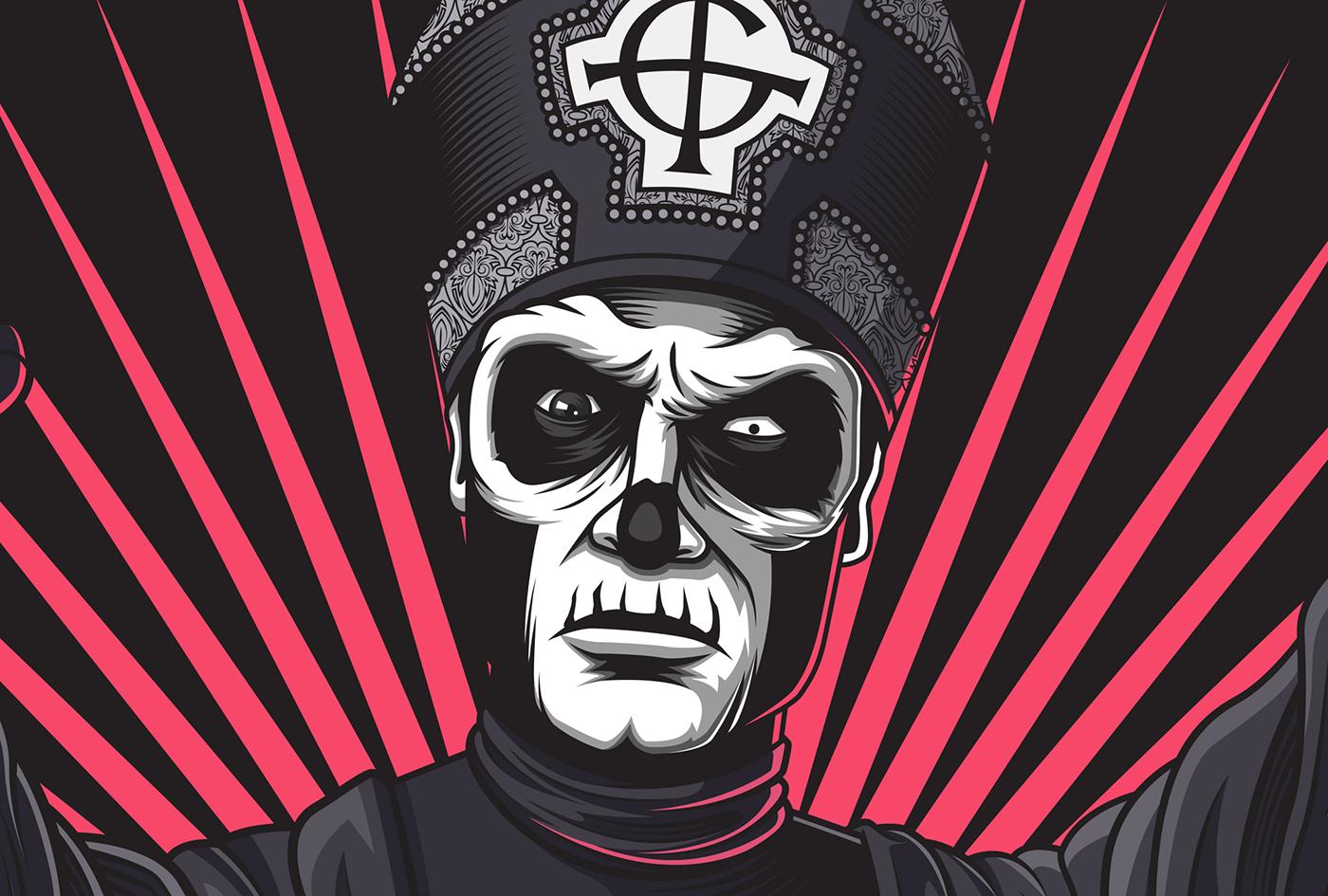 Ghost bc rock vector Mattias Johansson Mattyjay designbymatt Album cover ILLUSTRATION  fanart