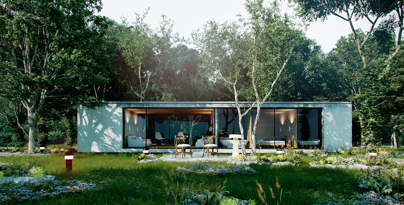 Forest house concept on behance for Forest house
